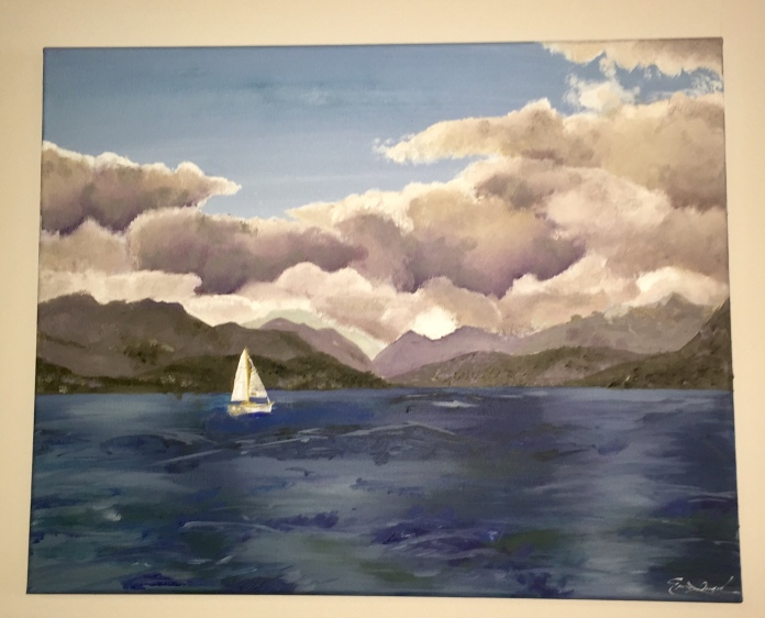 "Lake Annecy, France. Oil on Canvas. 16"" x 20"""